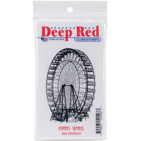 Deep Red Stamps 3X505133 Deep Red Cling Stamp 2 in. x 3 in-Ferris Wheel