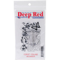 Deep Red Stamps 3X505134 Deep Red Cling Stamp 2 in. x 3 in-Corset Collage
