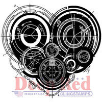 Deep Red Stamps Deep Red Cling Stamp 2inX2inMechanical Heart