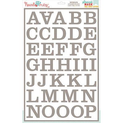 Hazel & Ruby HRSM329 Stencil Mask Peel Away Alphabet 12 in. x 18 in. Sheets 2-Pkg-Boutique 2 in. Letters
