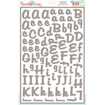 Hazel & Ruby HRSM330 Stencil Mask Peel Away Alphabet 12 in. x 18 in. Sheets 2-Pkg-Dear Ruby 1.75 in. Letters