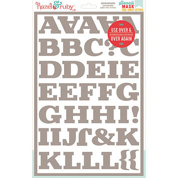 Hazel & Ruby HRSM332 Stencil Mask Peel Away Alphabet 12 in. x 8 in. Sheets 2-Pkg -Central Park 2 in. Letters