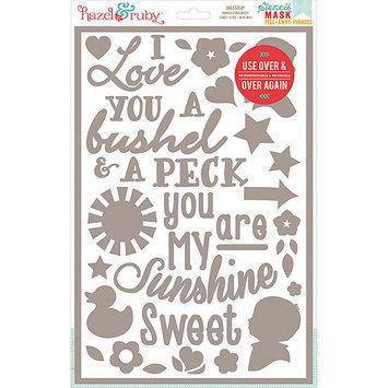 Hazel & Ruby HRSM334 Stencil Mask Peel Away Words 12 in. x 8 in. Sheet -Childs Play