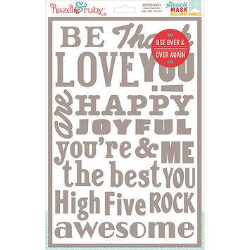 Hazel & Ruby HRSM337 Stencil Mask Peel Away Words 12 in. x 8 in. Sheet -Greetings
