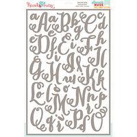 Hazel & Ruby HRSM338 Stencil Mask Peel Away Alphabet 12 in. x 18 in. Sheets 2-Pkg-Chalk Art 2 in. Letters