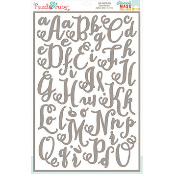 Hazel & Ruby HRSM338 Stencil Mask Peel Away Alphabet 12 in. x 18 in. Sheets 2-Pkg-Chalk Art 2 in. Letters