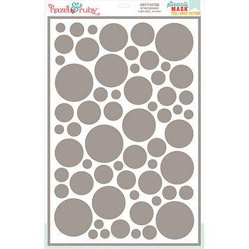 Hazel & Ruby HRSM340 Stencil Mask Peel Away Pattern 12 in. x 18 in. Sheet-Confetti