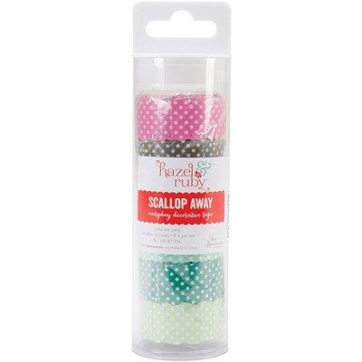 Hazel & Ruby HRWT-358 Hazel & Ruby Scallop Washi Tape-Colorful Ledgers