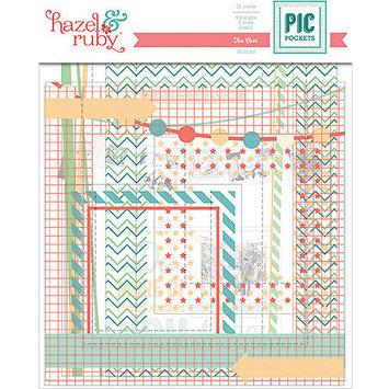 Hazel & Ruby Pic Pockets Die-Cut Cardstock Embellishments 6/Pkg-Party On