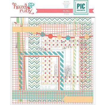 Hazel & Ruby Pic Pockets Die-Cut Cardstock Embellishments-On Trend