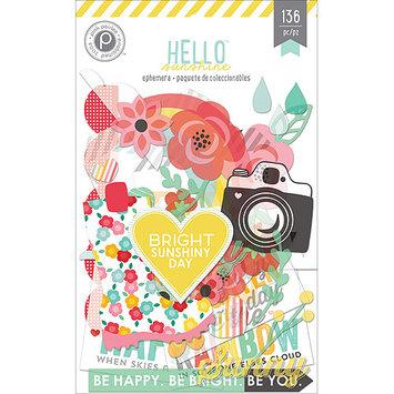 Pink Paislee Hello Sunshine Ephemera Die-Cuts 136/Pkg-Cardstock & Clear
