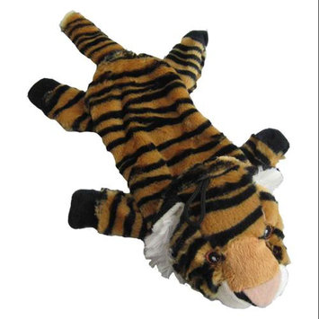 Iconic Pet 91792 15 in. Tiger Bottle Fill Wild Animal Dog Toy