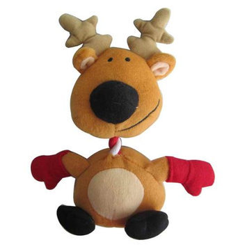 Iconic Pet 91817 9 in. Reindeer Rope & Squeaky Christmas Dog Toy