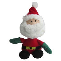 Iconic Pet 91818 9 in. Christmas Father Rope & Squeaky Christmas Dog Toy
