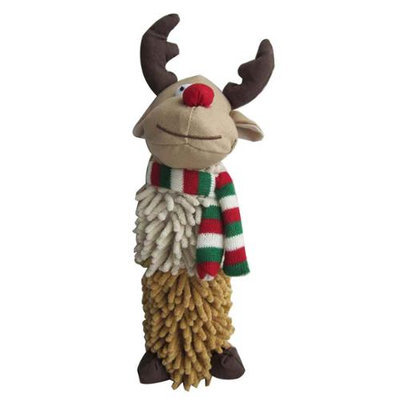 Iconic Pet 91822 13 in. Christmas Reindeer Noodle Dog Toy