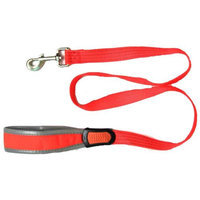 Iconic Pet 91848 Reflective Nylon Leash & Safety Lead For Pets Orange - Medium