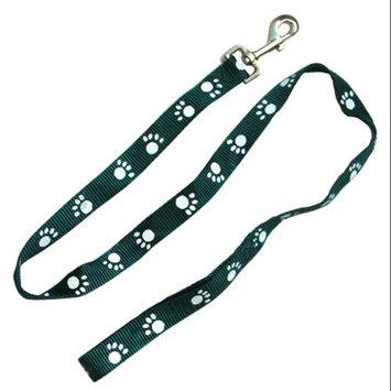 Iconic Pet 91873 Paw Print Dog Leash - Green - Medium