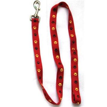 Iconic Pet 91877 Paw Print Dog Leash - Red - Medium