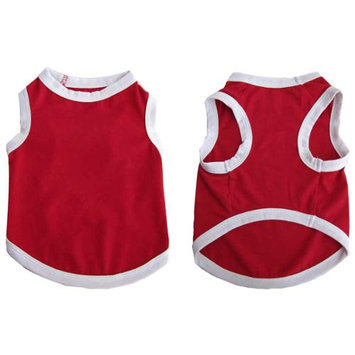 Iconic Pet 91980 Pretty Pet Red Tank Top For Dogs & Puppies - Large
