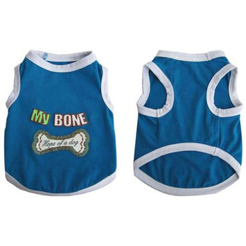 Iconic Pet 91983 Pretty Pet My Bone Tank Top For Dogs & Puppies- X Small