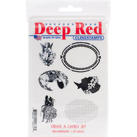 Deep Red Stamps 5X704293 Cling Stamp Set-Vector Flourishes