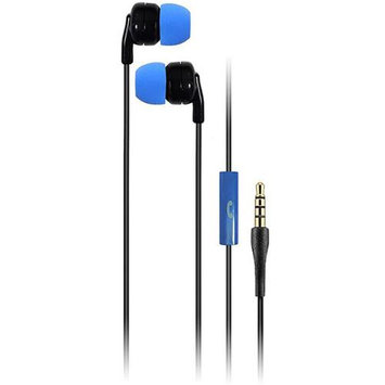 Talk2Me T2-M1 Classic Earphones with Mic, 20-20000Hz Frequency Response, 16Ohms Impedance, Blue