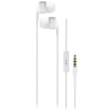 Talk2Me T2-M1 Classic Earphones with Mic, 20-20000Hz Frequency Response, 16Ohms Impedance, White