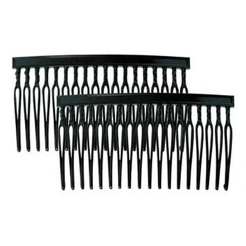 Camila Paris CP835-2 2.5 In. Black Hair Combs 4 Pack of 4