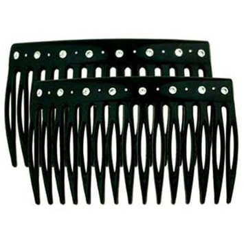 Camila Paris CP1448-2 2.75 In. Black Hair Combs Pack Of 4