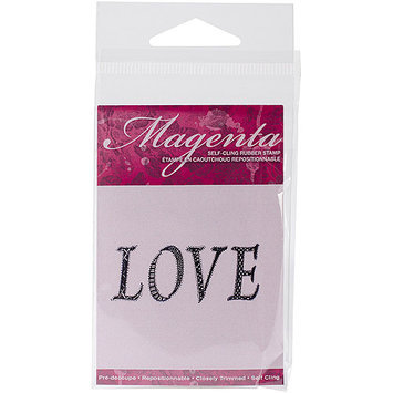 Magenta C07812F Magenta Cling Stamps 1.5 in. x 2 in-Love