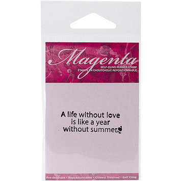 Magenta C07832E Magenta Cling Stamps 1 in. x 2 in-A Life Without Love.