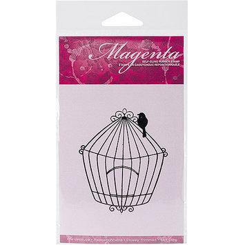 Magenta C42195L Magenta Cling Stamps 3.25 in. x 2.75 in-Large Bird Cage