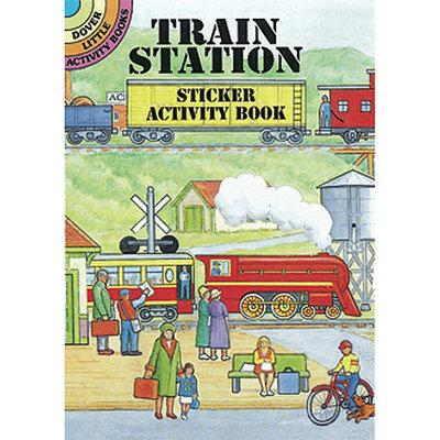 Dover 466726 Dover Publications-Train Station Sticker Activity Book