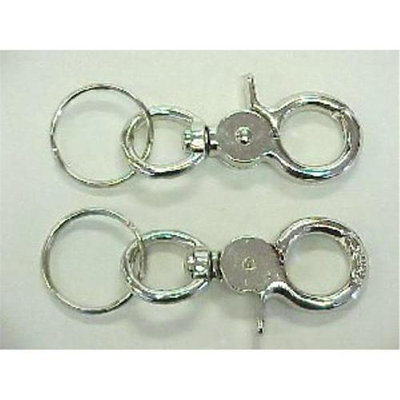 Bulk Buys 3.5 in. Metal Twist and Clip Key Chain - Case of 72