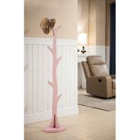 Inroom Designs Coat Rack Color: Pink