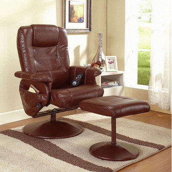 InRoom Designs Reclining Massage Chair and Ottoman