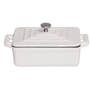 World Cuisine A17535W WHITE RECTANGULAR DUTCH OVEN