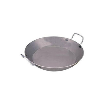 World Cuisine A4172326 Carbon Steel Paella Pan 10.25 Inches