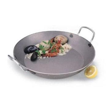 World Cuisine A4172345 Carbon Steel 17.75 Inch Paella Pan