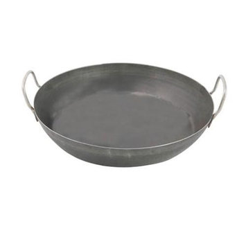 World Cuisine A4171740 Black Steel Paella Pan 15.75 Inches