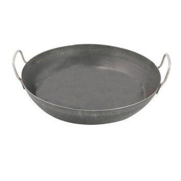 World Cuisine A4171745 Black Steel Paella Pan - 17.75 Inches