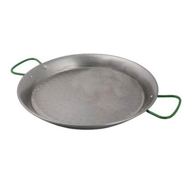 World Cuisine A4172480 Polished Carbon Steel 31.5 Inch Paella Pan