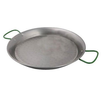 World Cuisine A4172490 - Polished Carbon Steel Paella Pan w/ Dual Zinc