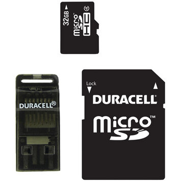 Duracell Du-3in1-32g-r Class 4 Microsd[tm] Card With Sd[tm] & USB Adapters [32GB]