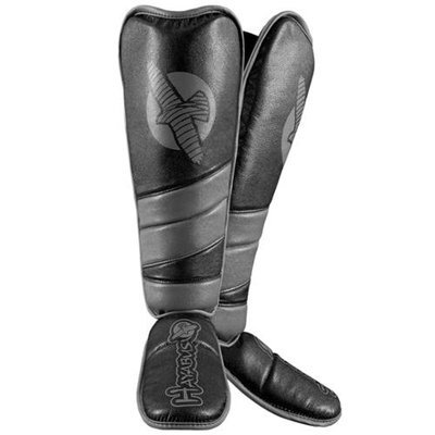 Hayabusa Tokushu Regenesis Grappling Shin Guard - Large - Black/Gray