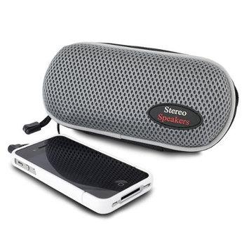 280089 Sporty Nylon Portable Stereo Speaker -Gray
