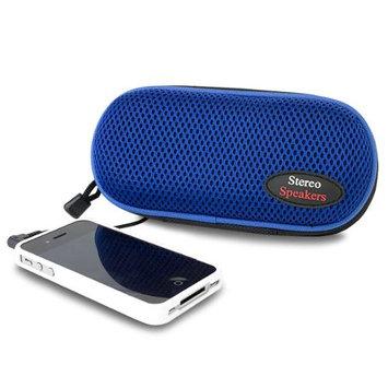 280095 Sporty Nylon Portable Stereo Speakers -Blue