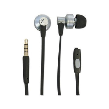 BTHCLSTHD400 - Case Logic 400 Series Earbuds w/Microphone; Black/Silver; 4 ft Cord