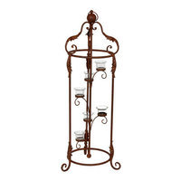 Privilege Red Iron Votive Lantern