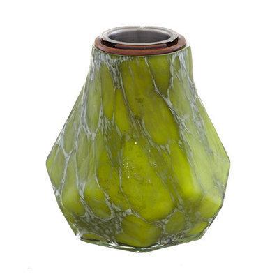 Evergreen Enterprises Green Marble Blown Glass Fireside Firepot